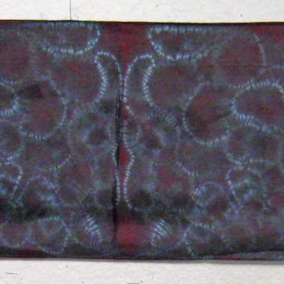 Full Length of Mulberry Silk Shibori Scarf by Maureen Jakubson