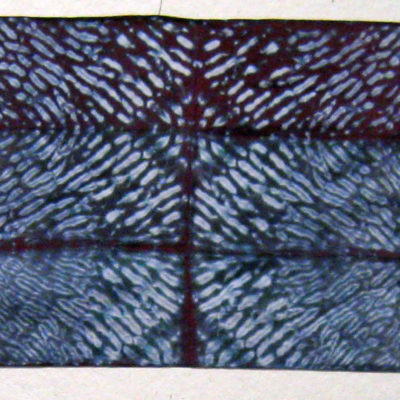 Mulberry and Gray Diamond Intersection Pattern Silk Shibori Scarf Full Length