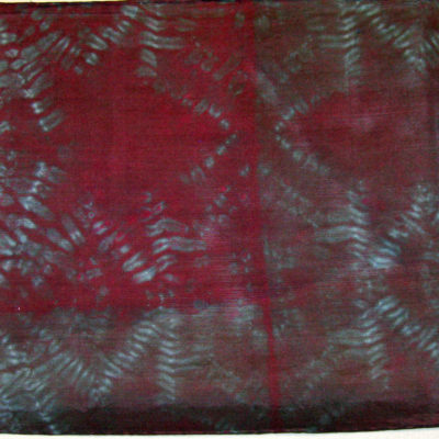 Mulberry Grey Star Motif Silk Shibori Scarf Detail